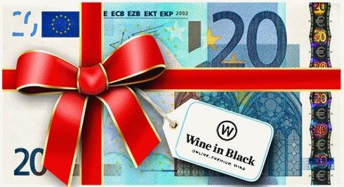 Wine in Black 20 Euro Gutschein