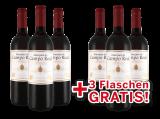 Vorteilspaket 6 für 3 Tempranillo Marqués de Campo Real bei ebrosia