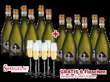 Vorteilspaket 12 für 6 Prosecco Frizzante Selezione del Re inkl. 6 Sektgläser8,89€ pro l