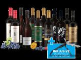 Lagerräumungs-Weinpaket XXL inkl. Kellnermesser bei ebrosia