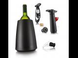 Vacu Vin Weinset / Wine Set schwarz 5tlg