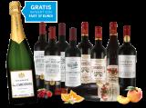 Vorteilspaket – Edle französische Rotweine + Gratis Champagner10,37€ pro l