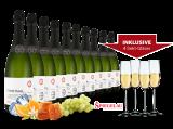 Vorteilspaket 10 Flaschen Cava Cossètania inkl. 4 Sektgläser8,67€ pro l