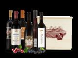 Wein-Genussreise mit 6 Flaschen in Holzkiste bei ebrosia