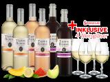 Kennenlernpaket Les Vignerons dAghione Teppe Rosse mit je 2 Flaschen inkl. 4 Gläser8,89€ pro l