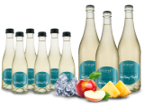 Vorteilspaket 9 Flaschen Kiefer Secco Weiß Flausen im Kopf 3 x 0,75l und 6 x 0,2l10,14€ pro l