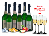 Geldermann Probierpaket ´´Les Grands´´ 6 Flaschen mit 4 Gläsern inkl.15,55€ pro l