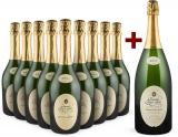 Sieur d'Arques 'Grande Cuvée 1531 de Aimery' Crémant de Limoux Brut 9er+Gratis-Magnum-Set bei Wine in Black