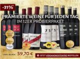 """12er Probierpaket """"Prämierte Weine für jeden Tag"""" für nur 59,70€ statt 86,40€"""