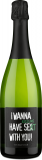 Emil Bauer Riesling Brut 'I Wanna Have Riesling Se(x)kt With You!' bei Wine in Black