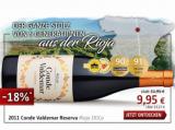 2011 Conde Valdemar Reserva Rioja DOCa für nur 9,95€ statt 11,95€