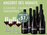 2015 Ursprung Rotweinpaket 6 Fl. & 4er Set Zwiesel Kristallgläser für nur 57,00€ statt 81,90€