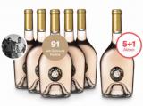 5+1 Paket Miraval Côtes de Provence Rosé 2017 für nur84,50 €