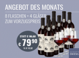 Fabelhaft Rotweinpaket 8 Fl. u. 4er Set Zwiesel Weingläser für nur 79,90€ statt 96,50€
