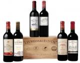 6 Bordeaux Spitzenweine in einer edlen Holzkiste für nur 40 € inkl. Versand