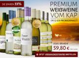 Probierpaket Premium Weißweine aus Südafrika für nur 59,80€ statt 89,40€