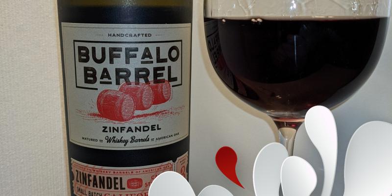 Wein-Tasting: Buffalo Barrel 'Whiskey Barrel Aged' Zinfandel California 2018 – House of Big Wines