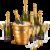 Pommery Noir Gold Paket / Champagner / Champagne