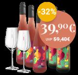 Probierpaket Weinhaus Andres, Pfalz + GRATIS Sternschliff – Weissweinglas-Set #1 – 4.5 L – _ bei VINZERY