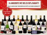 50% Rabatt im Weihnachts-Scheckheft 2017 bei vinos mit exklusivem GESCHENK