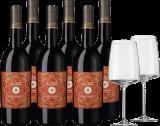 2019 Vorteilspaket Feudo Arancio Nero d'Avola / Rotwein / Sizilien 6 Fl. und 2er Set Vivid Senses Kräftig & Würzig, bei Hawesko